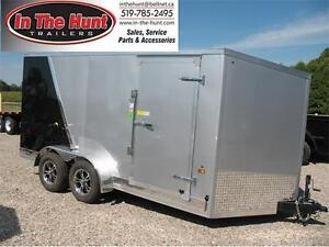2017 7X14 enclosed trailer with rear ramp