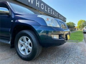 2004 Toyota Landcruiser Prado GRJ120R Grande Blue 5 Speed Automatic Wagon
