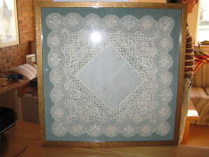 LACE HANDKERCHIEF IN FRAME