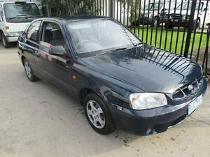 2002 Hyundai Accent LC GL Blue 4 Speed Automatic Hatchback Tottenham Maribyrnong Area Preview