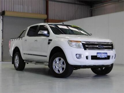 2012 Ford Ranger PX XLT Double Cab 4x2 Hi-Rider White 6 Speed Sports Automatic Utility Bibra Lake Cockburn Area Preview