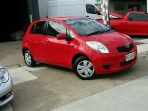 2008 Toyota Yaris NCP90R YR Red 4 Speed Automatic Hatchback