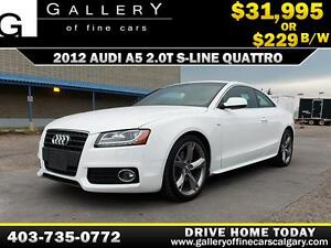 2012 Audi A5 S-LINE QUATTRO $229 bi-weekly APPLY NOW DRIVE NOW