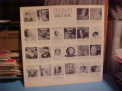 - RCA GOLD SEAL RECORDS PAPER INNER SLEEVE ONLY NO RECORD 12 IN. 21-112-1 PART 8B