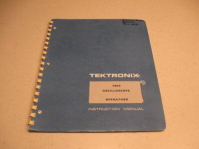 Manual Tektronix 7904 Oscilloscope Operators Instruction 1972 Reduced