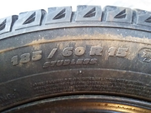 Michelin Winter Tires and rims - 185/60 R15