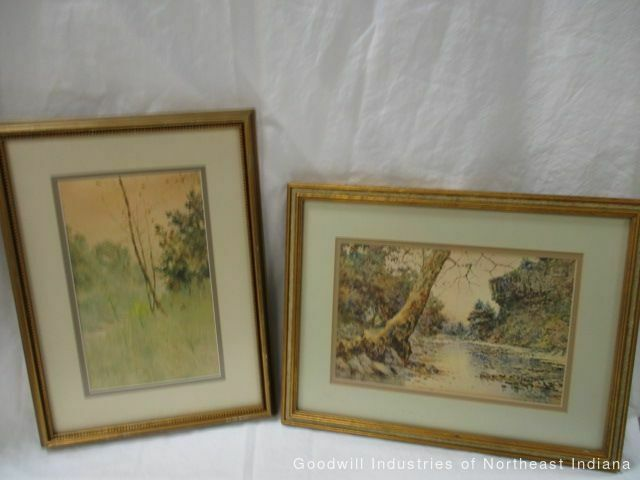 Two Original Prints by Paul Sawyier (cf)