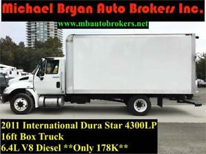 2011 INTERNATIONAL DURA STAR 4300LP 16FT BOX TRUCK *GREAT PRICE*