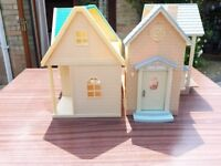 Sylvanian Dolls houses: Pair 2 storey houses £10 . Buyer collects.