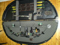 Left Handed PSE Archery Equipment with case and accessories
