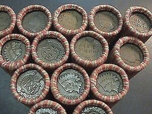 RARE UNSEARCHED WHEAT AND INDIAN HEAD PENNY ROLLS FROM OLD ESTATE SALE