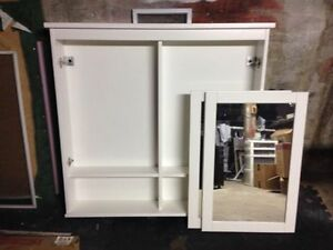 Mirror Cabinet for bathroom - Ikea Hemnes white 2 doors