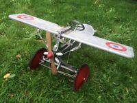 Unique Vintage child's pedal plane, dated 1929.