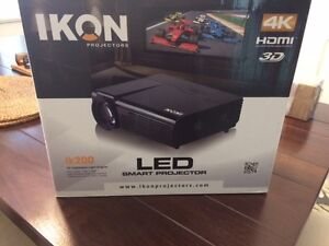 Ikon200 LED Projector, 5.1 Home Theatre System, Projector Screen London Ontario image 1