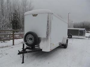 """14' CARGO TRAILER WITH 12"""" EXTRA HEIGHT Prince George British Columbia image 2"""
