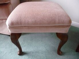 Foot Stool with Velour Seating