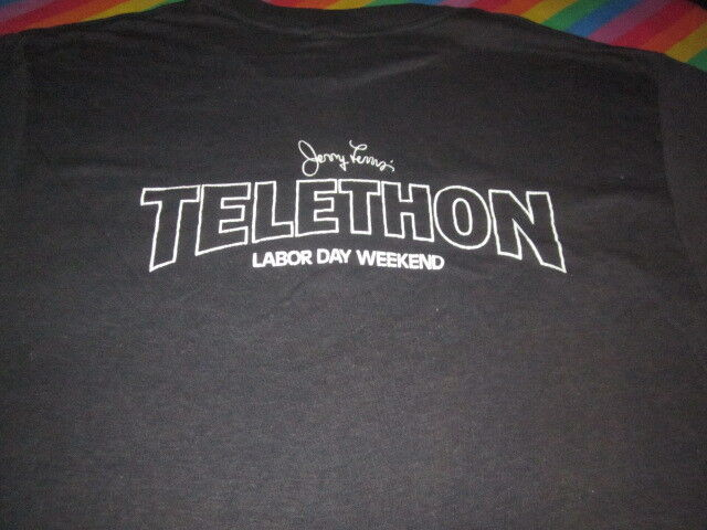 vintage 1980S JERRY LEWIS TELETHON TEE SHIRT LARGE CLEAN 80S TV