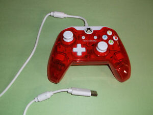 LIKE NEW XBOX ONE WIRED RED ROCK CANDY CONTROLLER London Ontario image 1