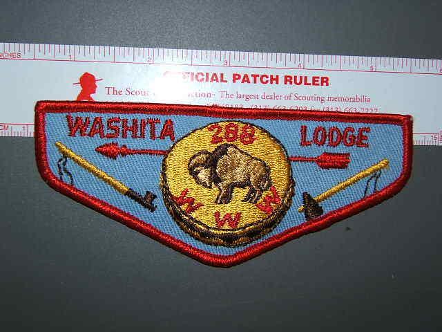 Boy Scout OA 288 Washita flap 2216L
