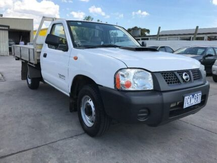 2010 Nissan Navara D22 MY2010 DX White 5 Speed Manual Cab Chassis Maidstone Maribyrnong Area Preview