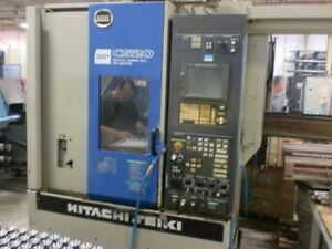 "13.8"" Hitachi-Seiki #CS20 CNC VERTICAL LATHE WITH FANUC 21iT"