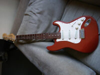 Electric guitar 90s Squier stratocaster vintage bullet. Rare
