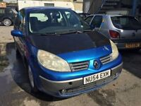 2004 Renault Megane Scenic, starts and drives well, MOT until 27th November, car located in Gravesen
