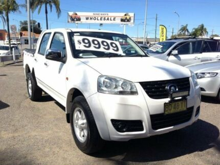 2012 Great Wall V200 K2 (4x2) White 6 Speed Manual Dual Cab Utility