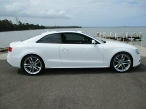 2014 Audi A5 8T MY14 2.0 TFSI S Line Comp Quattro White 7 Speed Auto Direct Shift Coupe Dapto Wollongong Area Preview