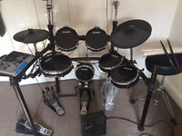 ALESIS DM10 Full Kit. Double Bass. With Stool and sticks. All included Good condition RRP £1,400