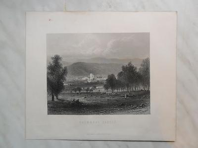 Print Engraving of Balmoral Castle c.1880 Scotland