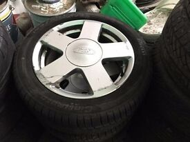 SET OF 4 FIESTA WHEELS & TYRES 15""