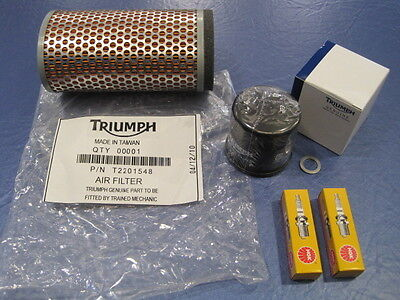 TRIUMPH SERVICE KIT SCRAMBLER 865C OIL FILTERAIR FILTER SPARK PLUGS