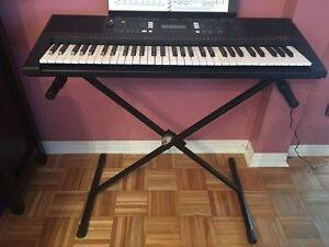 Yamaha YPT-340 DIGITAL KEYBOARD WITH STAND AND CARRYING CASE Cornwall Ontario image 1