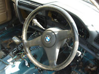 bmw e30 316i automatic steering wheel steeringwheel leather Breaking for parts