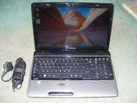 toshiba l750 laptop pentium 2.0 dual-core 6gb memory 500gb harddrive hdmi web cam