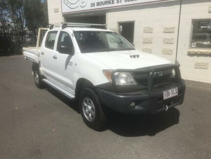 2005 Toyota Hilux KUN26R SR (4x4) White 4 Speed Automatic Dual Cab Pickup