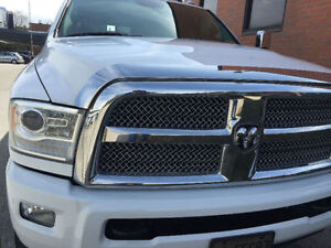 2010 to 2016 Dodge 2500 or 3500 front chrome Bug deflector