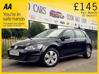 VOLKSWAGEN GOLF 1.6 SE TDI BLUEMOTION TECHNOLOGY 5d 103 BHP Been R (black) 2013