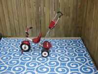 Radio Flyer bike with push handle