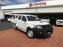 2013 Toyota Hilux KUN26R MY14 SR (4x4) Glacier White 5 Speed Manual Dual Cab Chassis Dubbo 2830 Dubbo Area Preview