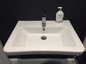 BRAND NEW VICTORIA PLUMB VERSO BASIN WITH WATERFALL TAP