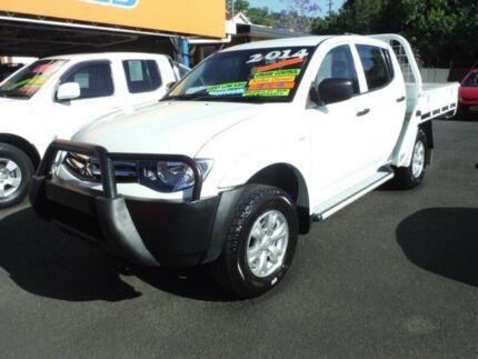 2014 Mitsubishi Triton MN MY14 Update GLX (4x4) White 5 Speed Manual Club C/Chas