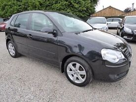 2009 Volkswagen Polo 1.2 Match 60, 5 Door in Black, Lovely Car in Excellent Condition with Long MOT
