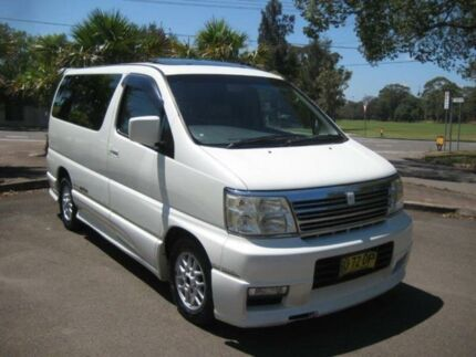 2001 Nissan Elgrand E50 Highway Star White 4 SP AUTOMATIC Wagon