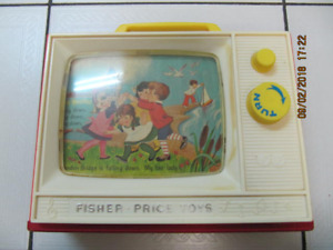 Vintage Classic Fisher Price Two Tune TV Made In USA Circa 1966