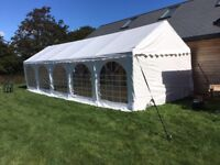 Heavy Duty Party/ Wedding White PVC Marquee 4m x 10m