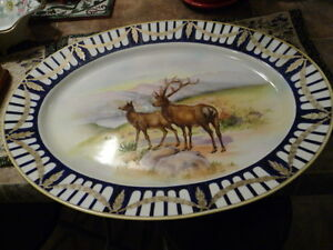 "Beautiful Large Antique ""Noritake"" Porcelain Game Platter"
