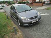 2005 Honda Civic 1.6 SE VTEC in Grey 55 plate with mot and 2 keys V-TEC