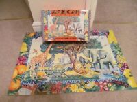 Childrens Giant Floor African Kingdom Colourful Educational Puzzle all pieces present and in VGC
